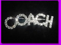 Gorgeous COACH crystal pin created with genuine clear crystals and sterling plated. www.halolujah.com  $12.00