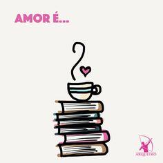 Um café (ou um chá) bem quentinho e muitos livros = amor, muito amor!  www.prateleirasemfim.com.br #repost #Arqueiro #Skoob