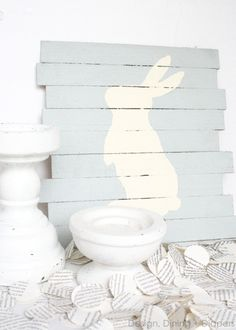 How To Create A Mini-Pallet Sign For Easter by Design, Dining + Diapers