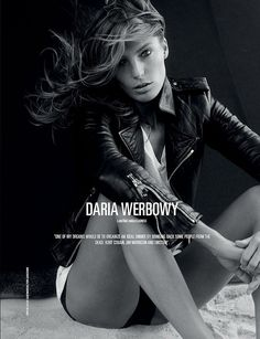 Daria Werbowy by Alexi Lubomirski in Dsection Magazine _