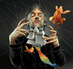 The Flaming Lips, Playboy Magazine : Martin Ansin, Illustrator | Illustration Portfolio