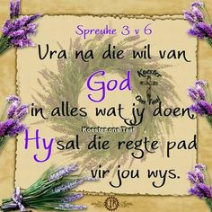 Spreuke 3:6 Jesus Quotes, Bible Quotes, Bible Verses, Inspirational Qoutes, Motivational Quotes, Afrikaans Quotes, Faith In God, Christian Quotes, Wise Words