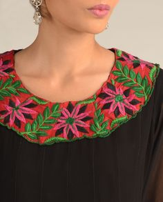 Beautiful Hand Work Embroidery Tunic Is Available At www.ladyselection.com
