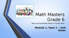 Are you looking for a real-world introduction to your Eureka Math program that energizes and entertains your students while they learn the concepts?  Then this PowerPoint program is for you!Each lesson is presented with an explanatory slide, then has a slide that asks students to solve the problem.