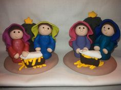 Polymer Clay Holy Family Nativity - Size 2 inches on Etsy, $27.36 CAD