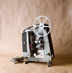 Vintage 8mm K75 Keystone Projector Movie Camera, Home Movies, Ol Days, Good Ol, Bulb, Projectors, Cameras, Audio, Vintage