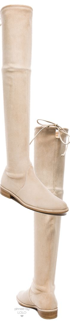 Stuart Weitzman Lowland Over-the-Knee Boot Buff Suede | LOLO❤︎
