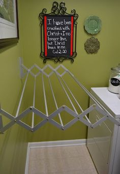 laundry room....drying rack