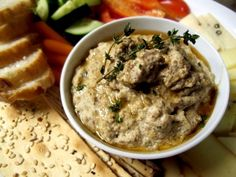 berenejena, pasta, paté, ahumado, receta Baba Ganoush, Eggplant Recipes, Jewish Recipes, Finger Foods, Side Dishes, Oatmeal, Appetizers, Breakfast, Jewish Food