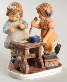 Goebel Berta Hummel Figurines Baking Cookies - Boxed