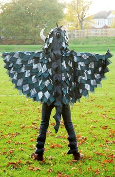 DIY dragon costume with cape