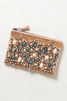 Fayruz Jeweled Clutch by Anthropologie Peach One Size Clutches from Anthropologie. Saved to Accessories. Beaded Clutch, Beaded Bags, Gold Clutch, Pochette Diy, Diy Sac, Boho Bags, Womens Purses, Anthropologie, Beautiful Bags