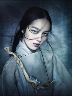 Character of Meako; Hibernarii of the Fortitude Faction onboard the Shivault.  Reference: Fei Fei Sun by Paolo Roversi for China Life Magazine February 2013