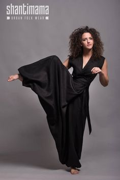 TALISE Convertible Linen Jumpsuit for Women, Plus Size Oversized Overall, White Harem Pants and Sleeveless Wrap Top, Alternative Weddings Jumpsuit Lang, Wrap Jumpsuit, Jumpsuit Shorts, Trendy Fashion, Boho Fashion, Fashion Outfits, Fashion Details, Fashion Ideas, Black Dress Pants