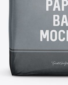 Cement Paper Bag Mockup - Front View (Close-Up)