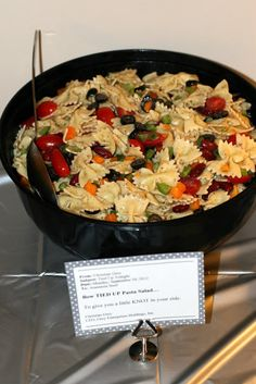 Invite and Delight: Fifty Shades of Fun - Party Food: Bow TIED-UP Pasta Salad