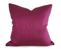 This textured fuchsia pillow cover adds a lively pop of color to a bouquet of flowers as seen in picture 5. or add it to solid greys or cream for a simple modern statement. Whether you call it fuchsia, magenta, or red purple this is a gorgeous and very vibrant, slightly iridescent, jewel tone woven in a herringbone design. Display pillows sold separately. More NEW FALL 2016 ARRIVALS https://www.etsy.com/ca/shop/PillowThrowDecor?search_query=new  One pillow cover here ... -Same herringbone…