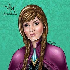 Camila Queiroz como Ana   Higgo Cabral é um ilustrador brasileiro que tem feito sucesso. Ele transforma princesas da Disney em celebridades brasileiras.