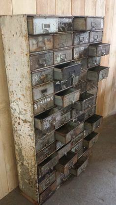 Vintage Industrial Large 56 Drawer Filing Cabinet Apothecary Chest of Drawers
