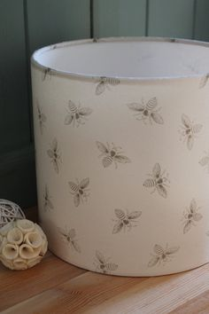 Handmade Round Drum, Bee Lampshade