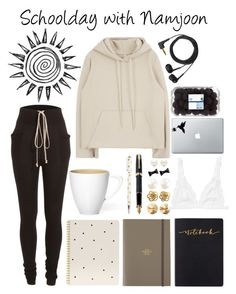 """Schoolday with Namjoon"" by outfitswithbts ❤ liked on Polyvore featuring Rick Owens, Sugar Paper, Undercover, Sennheiser, Fountain, Eddie Borgo, Marc by Marc Jacobs, Tiffany & Co. and Monki"
