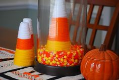 candy corn yarn cone