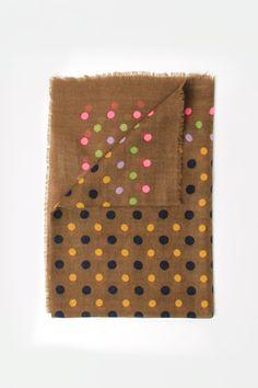 Épice Polka Dot Wool Scarf Canelle