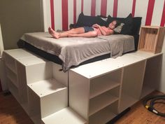 IKEA Hack Platform Bed Builder: Davis Family | DIY Home Projects ...