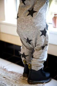 via my blog Grey Star Kids / P's Style / Toddler Dr. Martens / Nununu Star Romper