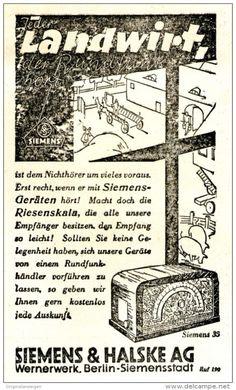 Original-Werbung/ Anzeige 1931 - SIEMENS & HALSKE RADIO / WERNERWERK BERLIN - ca. 75 x 120 mm