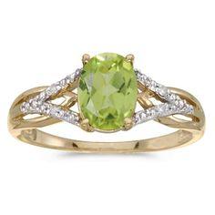 9 ct gold pretty peridot  /& diamond  ring  size  L M   new