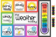 weather chart link to the exact one Kindergarten, Preschool Curriculum, Preschool Printables, Preschool Classroom, Future Classroom, Classroom Ideas, Classroom Signs, Classroom Displays, Preschool Worksheets
