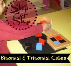 Step-By-Step: Binomial and Trinomial Cubes Montessori Math, Ecommerce Hosting, Homeschool, Cubes, Blog, Posts, Ideas, Montessori Sensorial, Messages