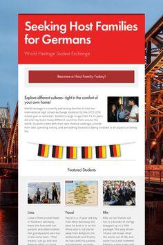 Seeking Host Families for Germans