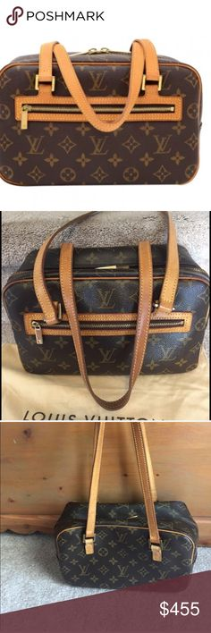 💯% AUTHENTIC VINTAGE LOUIS VUITTON CITE MM 💯 Vintage Authentic LOUIS VUITTON GREAT CONDITION  No damage anywhere!!! This is a 17 year old plus bag with no water stains nothing!!! She is a treasured find.  She is the medium size at 10 x 6.5 x 4. The last pic is for size only. Price is firm!!! This baby will NOT disappoint!!! No dustbag date code is TH0094. Louis Vuitton Bags Shoulder Bags
