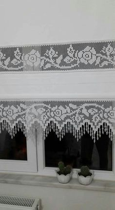 Best 11 35 New Ideas Crochet Doilies Rectangular Lace – SkillOfKing. Filet Crochet, Crochet Borders, Thread Crochet, Knit Crochet, Crochet Patterns, Drop Cloth Curtains, Lace Curtains, Curtains With Blinds, Crochet Curtains