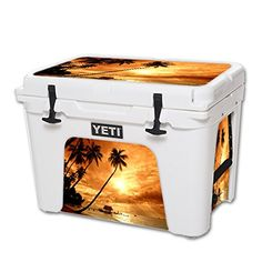 MightySkins Protective Vinyl Skin Decal for YETI Tundra 50 qt Cooler wrap cover sticker skins Sunset >>> For more information, visit image link.