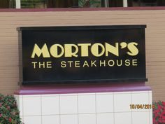 Intro not required. Morton's Steakhouse in Clayton, MO.
