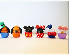 Disney Classic Characters Inspired Cupcake Charms. by Hearts2Charm