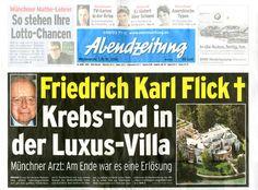 Friedrich Karl Flick erbte 1972 den größten Teil des Familienvermögens, welches vor allem auf die Ausnutzung von Zwangsarbeitern in der Nazizeit zurückging. Er verweigerte stets eine Beteiligung an Entschädigungsfonds für Zwangsarbeiter. Das Familienvermögen beläuft sich heute auf 7,35 Milliarden Euro - gegründet auf Nazizeit-Zwangsarbeit.