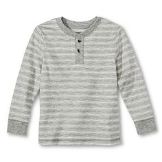 Toddler Boys' Henley Shirt - Heather Grey