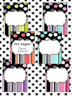 My new lesson plan binder cover! Cute! :)