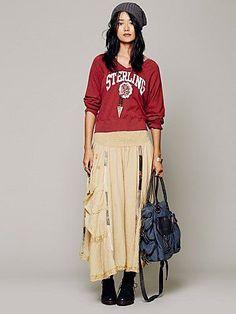 Free People Linen Patchwork Skirt Free People Renaissance at Colony Park 601.605.0406 #shoprenaissance