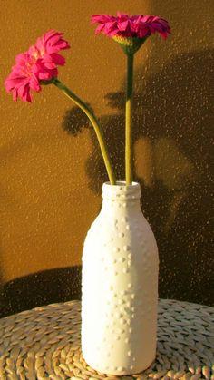 Vasos feitos com garrafas