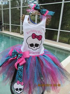 Hey, I found this really awesome Etsy listing at https://www.etsy.com/listing/180299324/monster-high-birthday-outfit