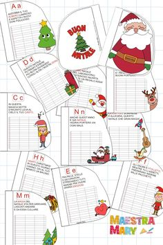 Un libretto di Natale per giocare con le lettere dell'Alfabeto. #maestramary #alfabeto #natale #ideenatale #natalealfabeto Notebook, Bullet Journal, Map, Children, Christmas, Young Children, Xmas, Boys, Location Map