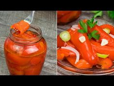 (12) Nakládané papriky - tohoto receptu už mnoho let a za ta léta se osvědčil!| Chutný TV - YouTube Stuffed Peppers, Vegetables, Food, Stuffed Pepper, Vegetable Recipes, Eten, Stuffed Sweet Peppers, Veggie Food, Meals