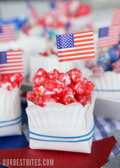 Fruity Candy Popcorn + DIY Candy Bowls from Our Best Bites