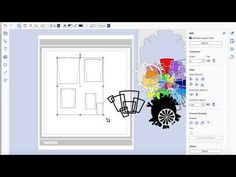brother scan n cut tutorials geometric backdrop tutorial - YouTube