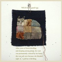 Wild but not lost Art Textile, Textile Artists, Textiles, Creation Art, Small Quilts, Fabric Manipulation, Sewing Notions, Fabric Art, Embroidery Applique